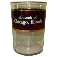 Ruby Flash Glass, Vintage Chicago Souvenir