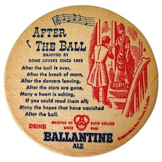 1950's Beer Coasters, Ballentine Ale, Set of Six