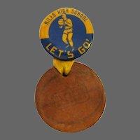 Niles East High School Basketball Button / Vintage Pin Back