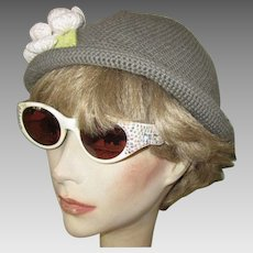 Vintage Rhinestone Eyeglass Frames, Italy 1950's Sun Glasses
