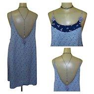 Vintage Dress, Low Back Festival Grunge, Boho, Zoe