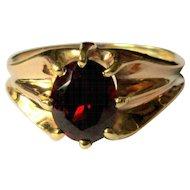 Ostby Barton Rose Gold Ring, Belcher Set Garnet