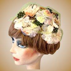 50's Floral Hat, Vintage Easter Parade