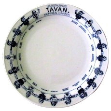 Restaurant Plate, Montreal, Vintage China, Germany