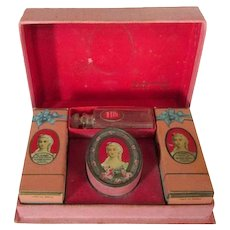 Hudnut Travel Makeup Box, Vintage 30's, Perfume