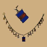 New York World's Fair Bracelet, 1939 Charm & Link