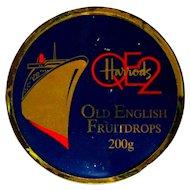 QE2 Vintage Tin, Harrods Fruitdrops