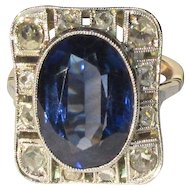 Rose Cut Diamond Ring, Edwardian, Platinum Filigree & 18K