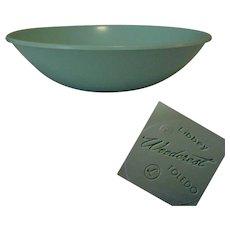 50's Libbey Plastic Serving Bowl, Vintage Aqua Woodcrest