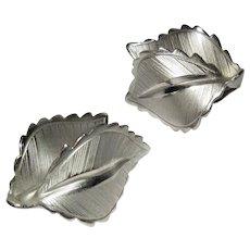 Leaf Earrings, Vintage Giovanni  1960's