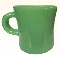 Jadeite Restaurant Ware Mug, Fire King Glass Heavy