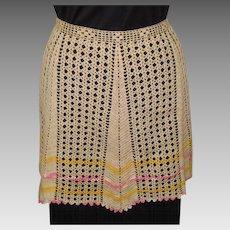 Vintage Lace Apron, Hand Crotchet