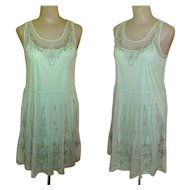 Vintage Beaded Dress, Flapper Revival, Mesh Deco Design