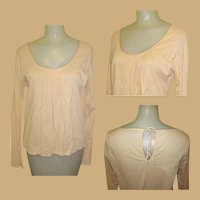 Vintage Peasant Blouse, Cotton 80's Boho Shirt