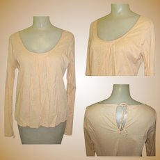 Vintage Peasant Blouse, Cotton 80's Boho Shirt