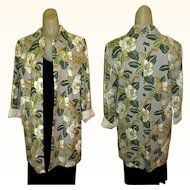 Vintage Jacket, Floral Duster, Tropical