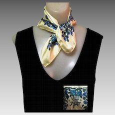 Silk Scarf, Vintage Liberty of London, 1950's