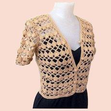 Vintage Lace Cardigan Sweater, 1970's