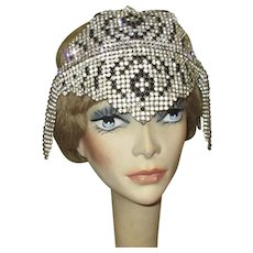 Rhinestone Deco Head Piece, Flapper Headband, 1920's