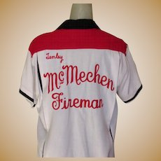 Vintage Bowling Shirt, Women's, 40's 50's Embroidered