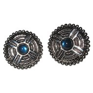 Gothic Earrings, Vintage Clips, Medieval Design