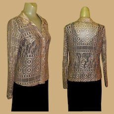 Lace Blouse / Vintage Cardigan, 1970's USA