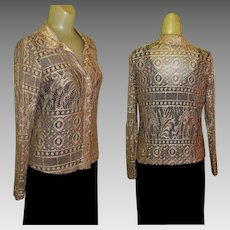 Lace Blouse / Vintage Cardigan, 1970's USA