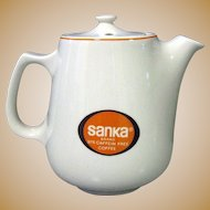 Hall China Pot, Sanka Restaurant Ware Coffee Pot