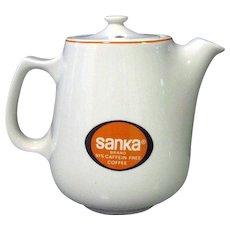 Hall China Pot, Sanka Restaurant Ware Coffee Pot