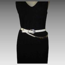 Vintage Belt, Leather, Disco Era, Moving Metal Trim
