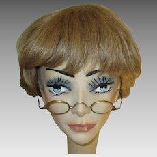 Antique Glasses Case & Wire Rim Glasses
