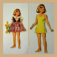 Vintage Paper Doll, Little Girl, 1950's