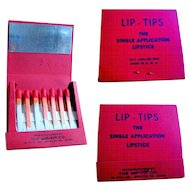 Vintage Makeup, Lipstick Sticks, Lip Tips, 40's or 50's