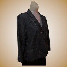 Vintage Designer Denim Jacket, DKNY 80's
