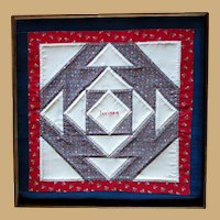 Quilted, Framed Picture, Calico Illinois