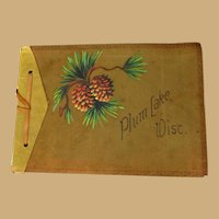 Vintage Photo Album, Leather, Plum Lake, Wisconsin