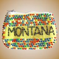 Vintage Beaded Change Purse, Montana 50's, Western Memorabilia