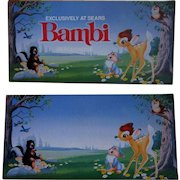Vintage Disney Bambi Poster, Sears Store Display