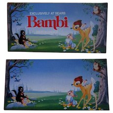 Vintage Disney Bambi Poster, Sears Store Display