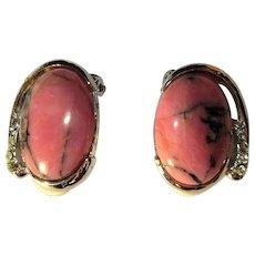 Vintage Earrings, Rhinestone & Stone Clips Ons.