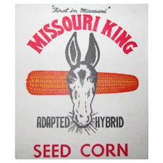 Missouri King Seed Corn, Memo Note book, Advertising