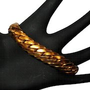 Vintage Chain Bracelet, Gold Toned, Thick 50's