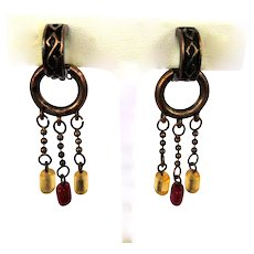 Vintage Hoop Earrings, Chains & Beads, Vintage Clips, Copper
