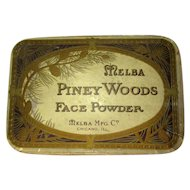 Vintage Melba Face Powder, 1910-1920, Unused Piney Woods