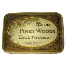 Vintage Melba Face Powder, 1910-1920, Unused Piney Woods