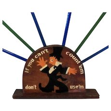 Art Deco Swizzle Stick Display Cocktail Party Centerpiece