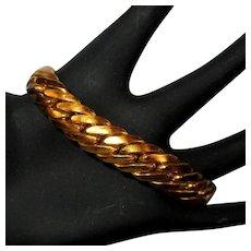 Vintage Chain Bracelet, Gold Toned, Thick 50's