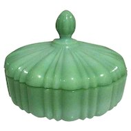 Fire King Jadeite Glass Candy Dish, 1940s Old Cafe