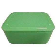 McKee Jadeite Refrigerator Glass Storage Dish. 1940s