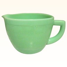 McKee Jadeite 2 Cup Measuring Cup Depression Glass